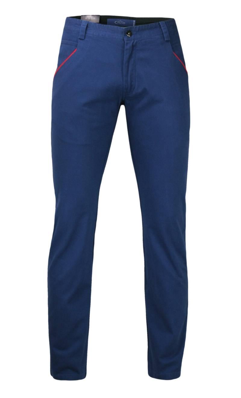 Bawełniane Spodnie Męskie, CHINOSY, Kolorowe Wykończenia
