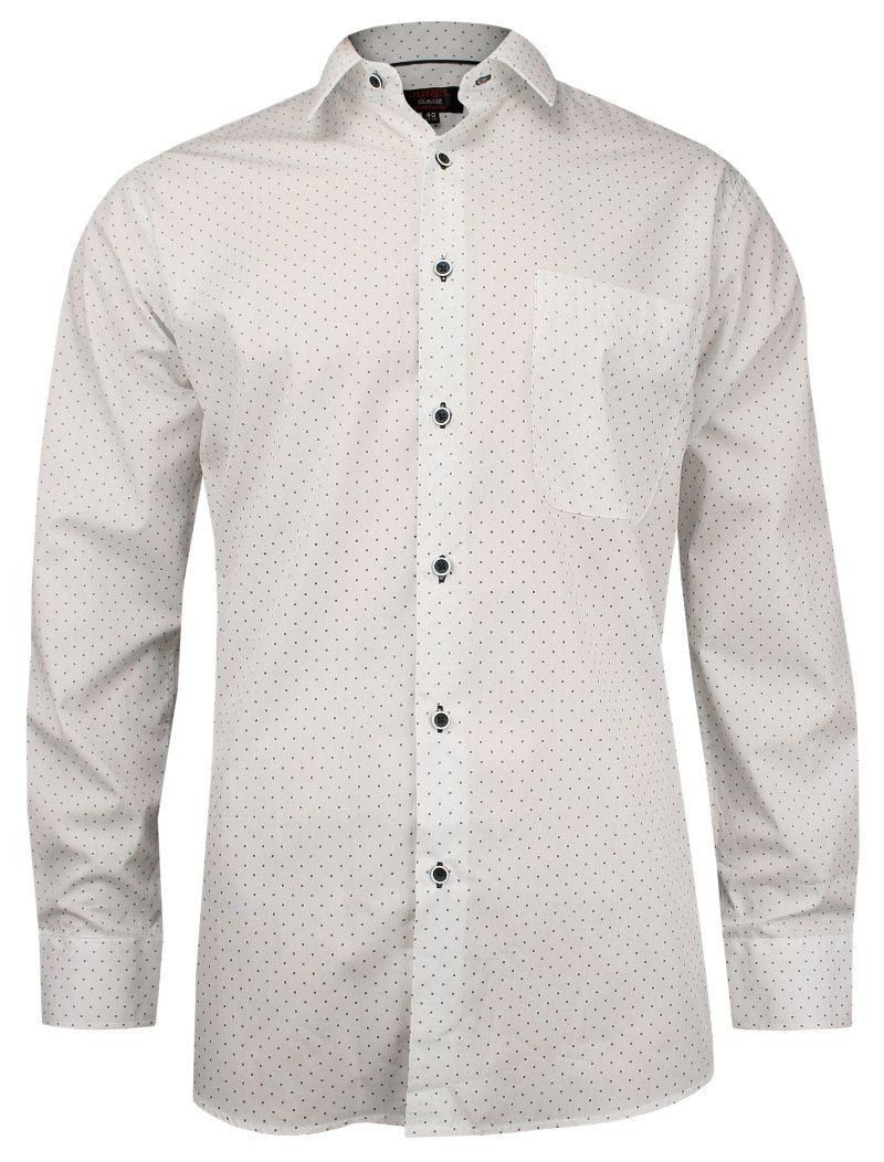 Biała Klasyczna Bawełniana Koszula Męska, Długi Rękaw JUREL  Xi4OG