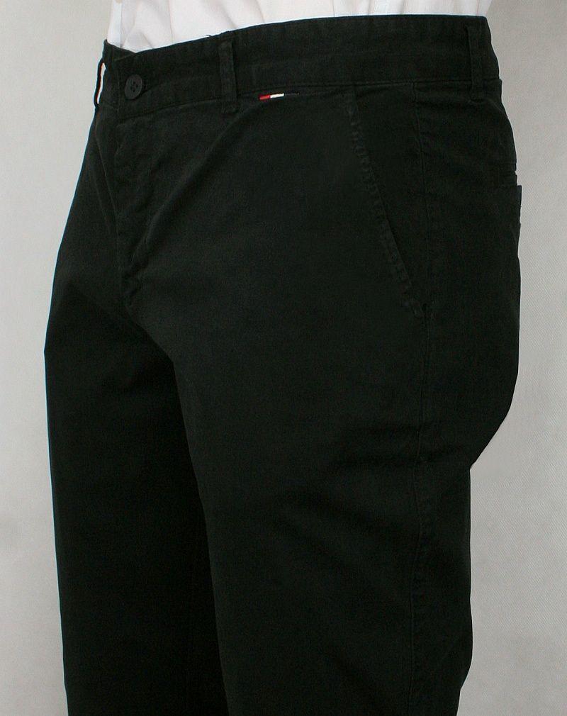 54c2695f9c87a Czarne Casualowe Męskie Spodnie -RIGON- Zwężane, Bawełniane : sklep ...