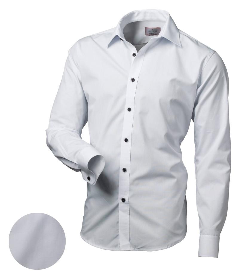 Modna koszula taliowana z długim rękawem